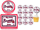 Atlanta Braves Birthday Party Cake Topper Plastic Cupcake Picks Edible on Ebay