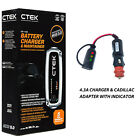 Battery Charger 4.3A - 7A & Custom Adapter for Cadillac STS
