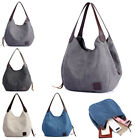 Women Canvas Handbag Shoulder Bags Large Tote Purse Travel Messenger Hobo Bag image