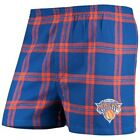Concepts Sport New York Knicks Royal Homestretch Flannel Boxer Shorts on eBay