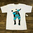 Dabbing Panda Tee w/ Gold Chain Basketball (White) T Shirt BRAND NEW! NWT