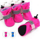 4pcs Dog Shoes Small Medium Mesh Boots Booties for Snow Rain Reflective Non Slip