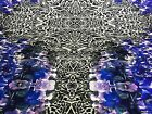 New High Class Designer Multicoloured Floral Leopard Print Scuba Fabric 58