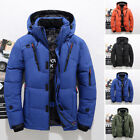 Men's Winter Warm Duck Down Jacket Ski Jacket Snow Hooded Coat Climbing Ske15
