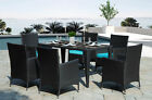 7-piece Patio Dining Set 6 Chairs 1 Table Outdoor Garden Wrought Iron Furniture