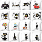 Halloween Cat Pattern Square Sofa Waist Throw Pillow Case Cushion Cover Decor 03