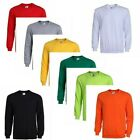 Unisex Plain Sweatshirt Jumper Crew Neck Knit Tops Casual Sweater Pullover Basic