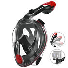 Full Face Snorkel Mask Free Breathing Scuba Diving Mask Anti-Leak Dry Top Goggle