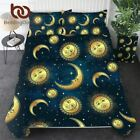 Celestial Duvet Cover With Pillowcase 3 Pieces Moon and Sun Bedding Set King Gol image
