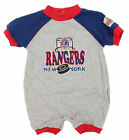 NHL Hockey Boys Infant New York Rangers Puck & Net Retro Romper, Grey $7.99 USD on eBay