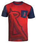 KLEW MLB Men's Los Angeles Angels 2016 Cotton Poly Pocket Logo Tee T-shirt, Red on Ebay