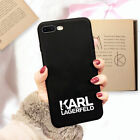 Silicone Phone Case Karl Lagerfeld for iPhone 11 Pro XS Max XR X 8 7 6 6S Plus