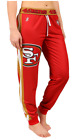KLEW NFL Women's San Francisco 49ers Cuffed Jogger Pants, Red $34.99 USD on eBay
