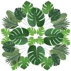 5pcs Artificial Tropical Palm Leaves Hawaiian Jungle Party Wedding Table Runner