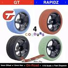 4x Rubber RC Racing Tires Car On Road Wheel Rim Fit - HSP HPI 901B ALL 1 10 UK