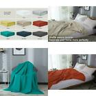Cotton Waffle Weave Bed Blanket Lightweight and Breathable Twin Queen King Size image