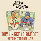 2019 TOPPS ALLEN & GINTER - GOLD HOT BOX PARALLELS - YOU PICK YOUR CARD 50% OFF on Ebay
