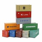 Mixed 3pcs/6pcs HO Scale 20ft Shipping Container Freight Car 1:87 20ft Container
