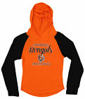 OuterStuff NFL Youth Girls Long Sleeve Hooded Shirt, Cincinnati Bengals $17.5 USD on eBay