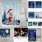Christmas Bathroom Decoration Curtains Tapestry Waterproof  Shower Curtain Decor
