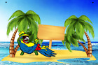 It's 5 o'clock Somewhere Metal Sign Add Your NameBar Blue or Red Parrot