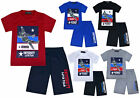 Boys Summer Short Sleeve T-shirt and Shorts Set Planes Kids New Age 2 - 10 Years