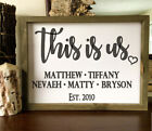 This Is Us Personalized Family Established Vinyl Decal Farmhouse Custom No Sign