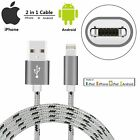 OEM iPhone Lightning Cable 2 in 1 Dual Use Micro USB Cable (not type c) USA