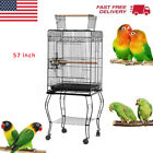 23'/37'/57' Bird Cage Rolling Bird Cage Parakeet Finch Bird Hous Cage With Stand