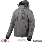 New 2020 FXR Women's FRESH Snowmobile Jacket Grey Linen/Plum Size 6 10 12 14 16