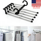 Multi-functional Pants rack shelves 5 in1 Stainless Steel Wardrobe Magic Hanger.