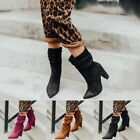 2019 Women Fashion Boots Ankle Boots Shoes Slip On Pointed Toe Booties GIFT