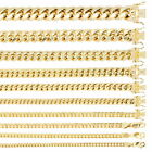 "14K Yellow Gold 3mm-14.5mm Real Miami Cuban Link Necklace Chain Bracelet, 7""-30"""