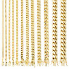 Kyпить 10K Yellow Gold 3.5mm-17mm Real Miami Cuban Link Necklace Chain Bracelet 7