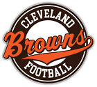 "Cleveland Browns Logo NFL Sport Car Bumper Sticker Decal ""SIZES'' $3.75 USD on eBay"