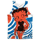 Betty Boop MOD RINGS Front Only Sublimated Big Print Poly Tank Top $38.98 AUD on eBay