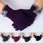 Kyпить Women Ladies Winter Warm Thick Soft Cashmere Touch Screen Fleece Gloves GU на еВаy.соm