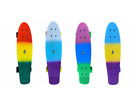 "22"" 4 Colors Mini Complete Skateboard Cruiser Board Plastic Deck Large Wheels image"