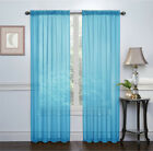 Basic 2 Pack Sheer Voile Home Window Curtains - Assorted Colors & Sizes