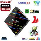 Smart TV BOX H96MAX 4 64G Android 8.1 Quad Core 4K WIFI RK3328 Media Player NEW