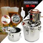 3POT 5/8Gal Stainless Water Alcohol Distiller Copper Brewing Kit For DIY Wine US