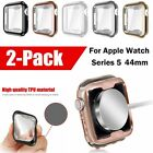 For Apple Watch Series 5 Case 44mm Soft TPU Plated Screen Protector Rugged Cover image