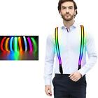 Unsiex Light Up Suspenders Y-Back Suspenders LED Suspenders Costume Accessory
