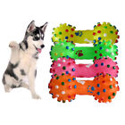 WO_ 1/4Pcs Pet Dog Cat Puppy Dotted Dumbbell Shape Molar Squeaky Chew Bone Toys