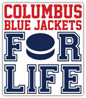 "Columbus Blue Jackets For Life NHL Sport Car Bumper Sticker Decal ""SIZES'' $3.75 USD on eBay"