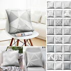 45*45cm Silver Gray Cushion Cover Home Throw Pillow Case Bedroom Decorative