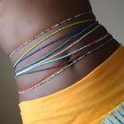 Women's Fashion 10pcs Simple Colorful Rice Beaded Waist Chain Dance Belly Chain