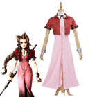 Final Fantasy VII Aeris Cosplay FF7 Aerith Cosplay Costume Full Set