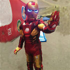 Avengers 4 Iron-man Cosplay Costume Boys Halloween Suit Clothes Children Mask