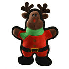 Dog Cat  Christmas Toy Play Funny Pet Puppy Squeaky Plush Sound Cute Elk Toys